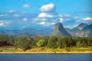 Nakhon Phanom, stad van de bergen