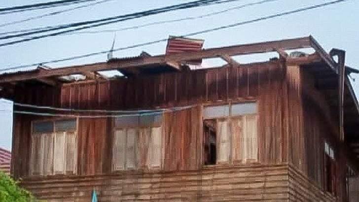 Ravage door zware storm Noord-Thailand
