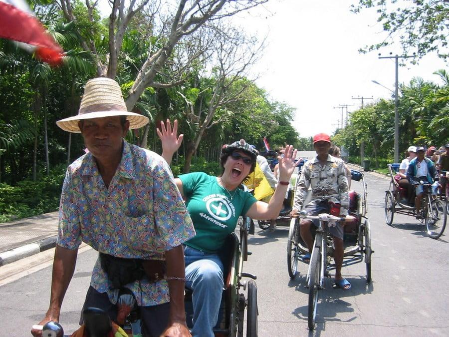 Bangkok per fiets
