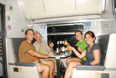 alcohol in de trein