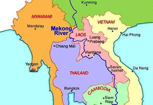 Mekong, een grens van Thailand
