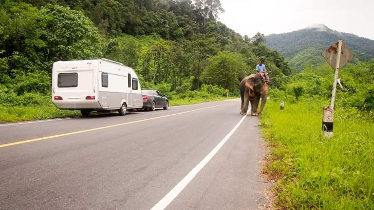 Met de caravan door Thailand