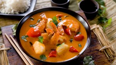 Thaise rode curry met vis