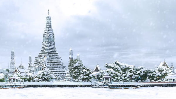 Bangkok in de sneeuw