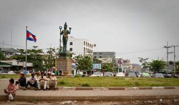 Scams bij de grens tussen Thailand en Cambodja