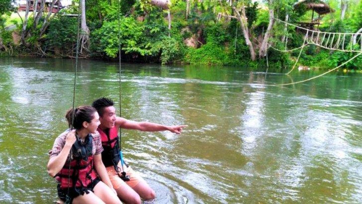 Waterpark Kaeng Krachan in de natuur van Thailand