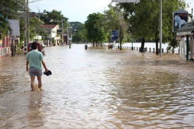 Overstromingen in Noord-Thailand