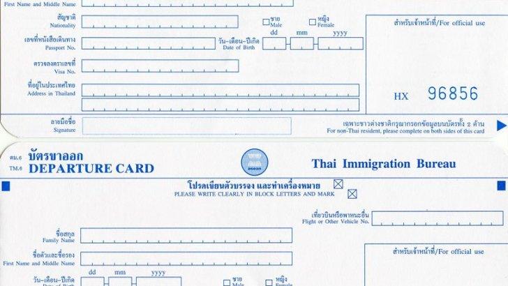 Hoe vul je de Thaise immigratiekaart in?