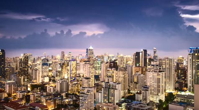Gave film over Bangkok