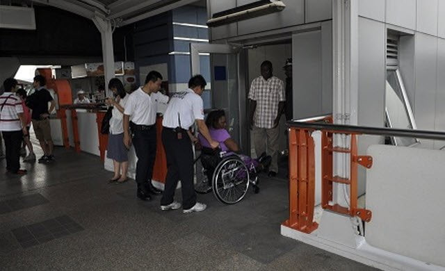 Voortaan liften op BTS Skytrain stations