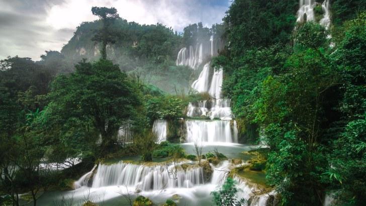 Thi Lo Su waterval in Tak gesloten