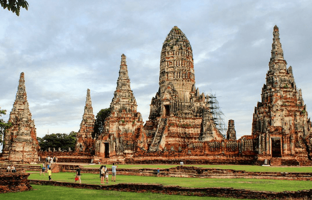 Cultuur snuiven in Ayutthaya