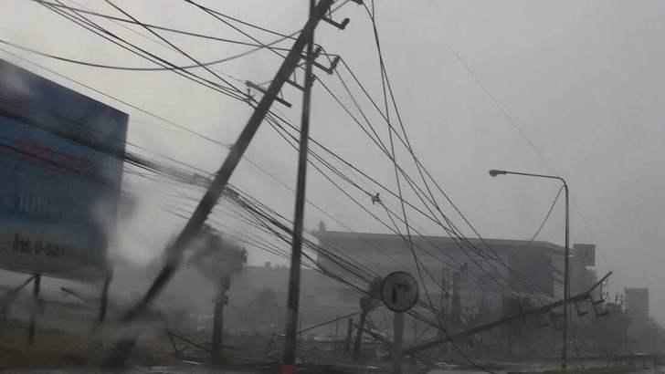 Zomerstorm in Noord-Thailand