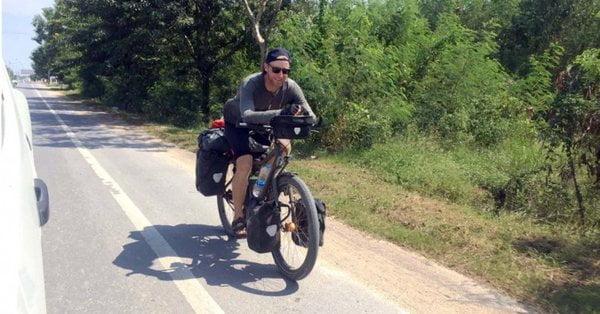 Nederlander op de fiets naar Thailand