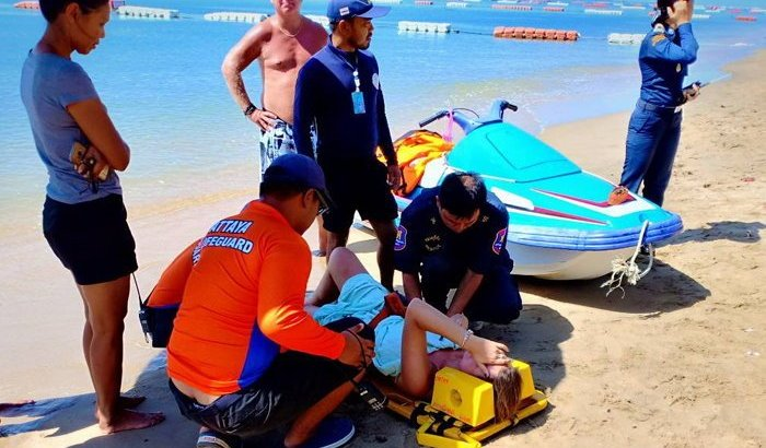 Ongeluk met jetski in Jomtien: Nederlandse vrouw gewond