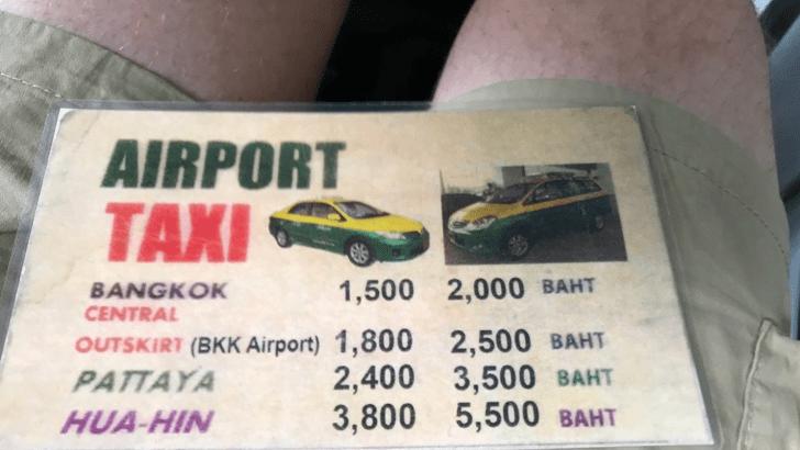 Taxi naar Bangkok centrum: wat betaal je nu?