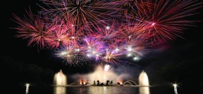 Les grandes eaux nocturnes du château de Versaille