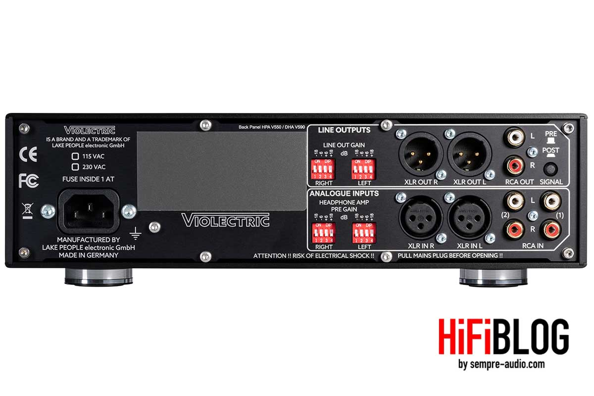 Violectric HPA V550 Premium Balanced Headphone Amp and Preamp 12