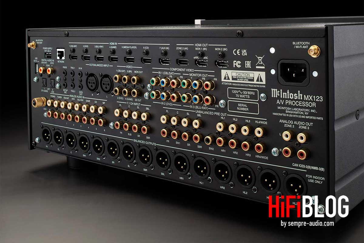 Foto © McIntosh Laboratory Inc. - McIntosh MX123 A/V Processor 8K Ultra HD Upgrade