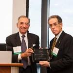 David Begelfer, CEO of NAIOP MA presents award to Lawrence Feldman of GZA