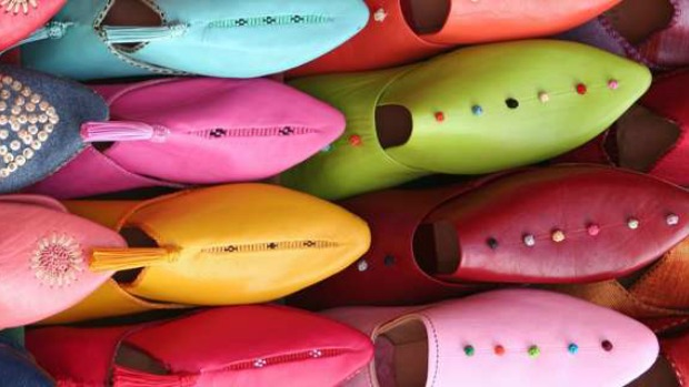 Morocco brightly coloured shoes 620
