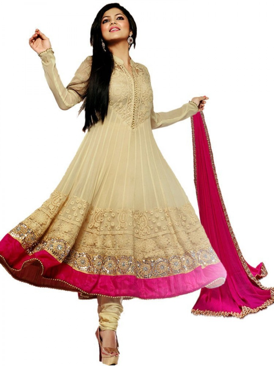 Buy Exclusive Style Amaze Georgette Embroidered Semi
