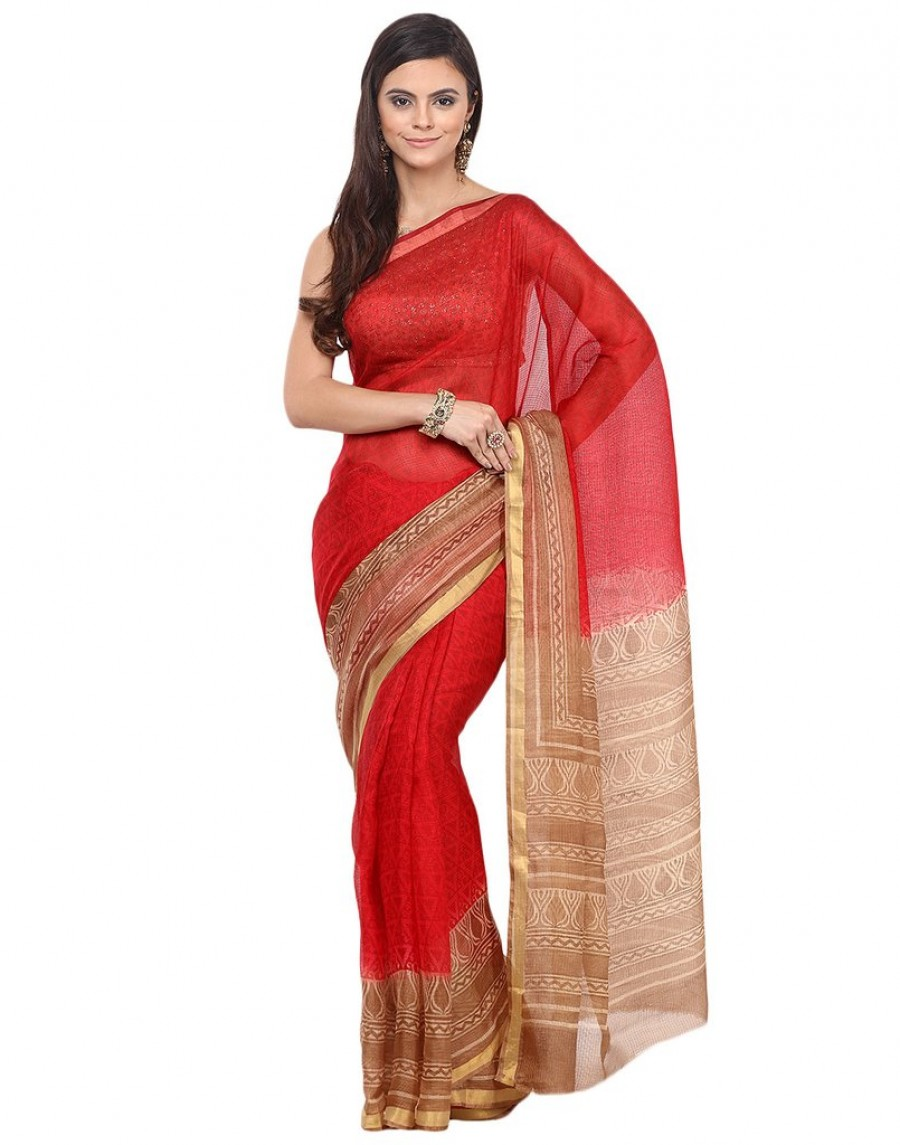 Geometrical Printed Cotton Kota Saree By Meena Bazaar|Best ...