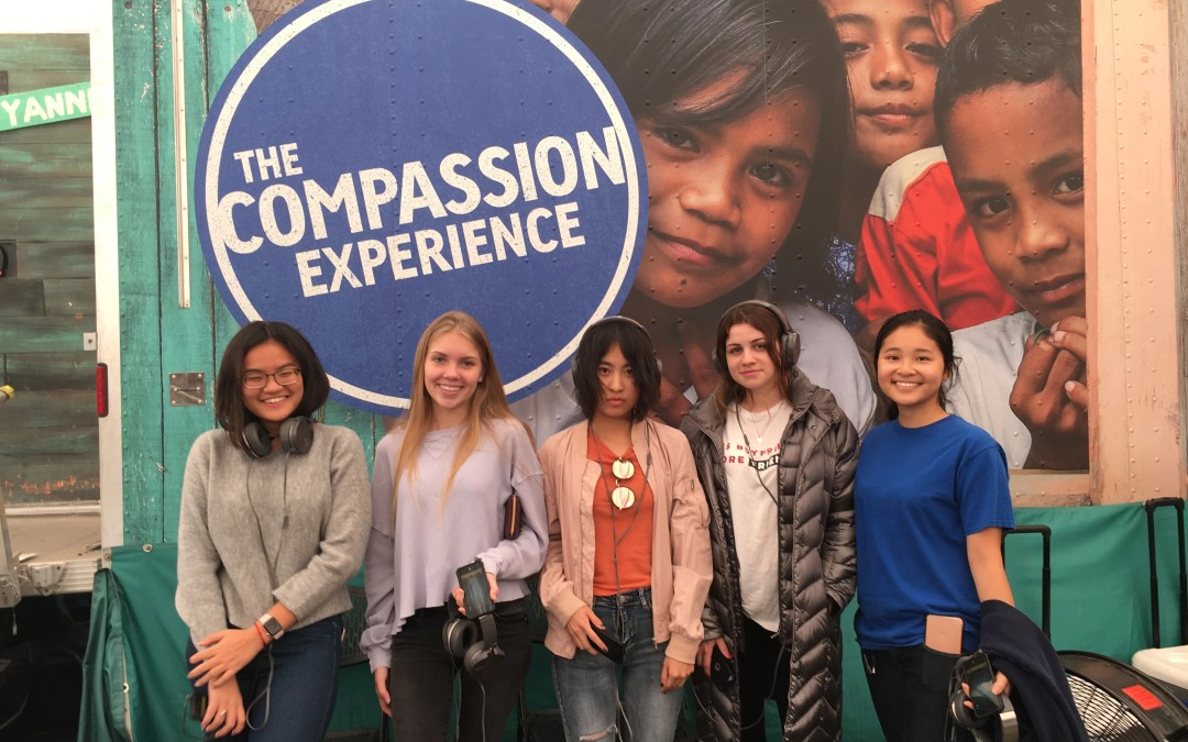 HBA service club visited the Mobile Compassion event in San Diego!