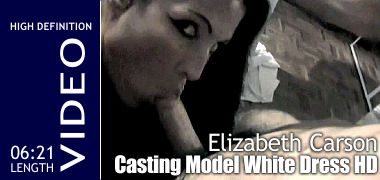 Elizabeth Carson - Casting Model/MILF White Dress