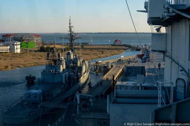 USS Laffey from the USS Yorktown @ Patriots Point, Charleston (South Carolina)