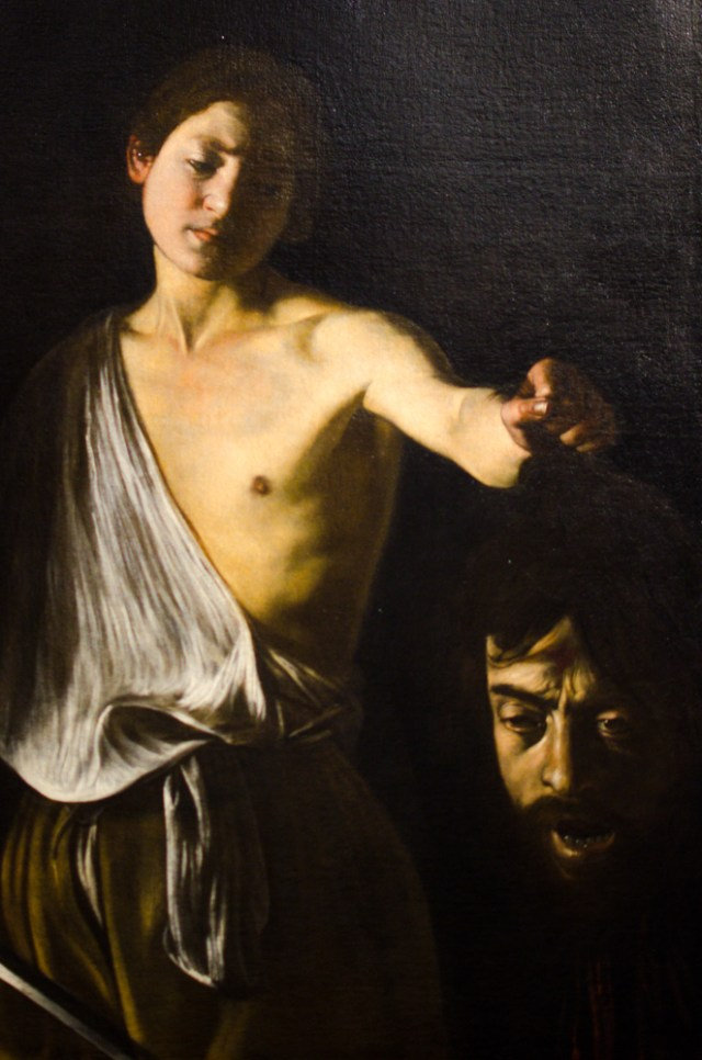 Caravaggio - David and the Head of Goliath @ Borghese Gallery, Rome, Italy