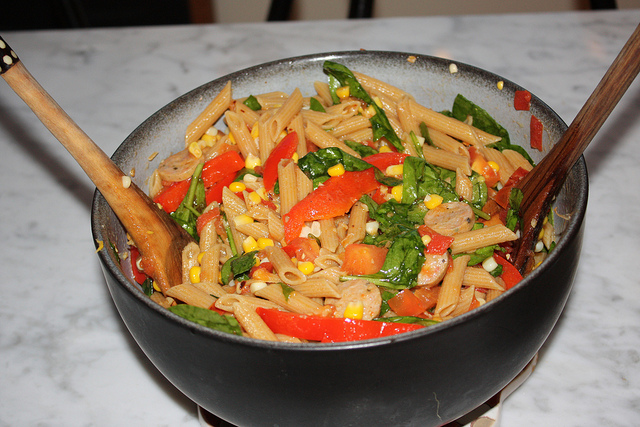 Garlic and Olive Oil Pasta with Veggies   High Country Olive Oil