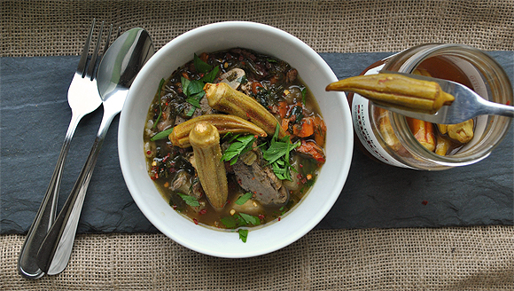 Duck and Turnip Stew with Dandelion Greens | High Country Olive Oil