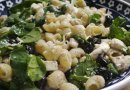 Pasta with Spinach, Olives, and Mozzarella