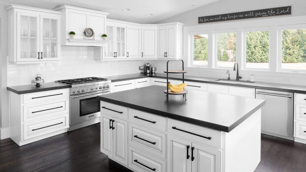 White Farmhouse Cabinets   Modern Farmhouse   HighCraft ... on Farmhouse Kitchen Farmhouse Granite Countertops  id=32967