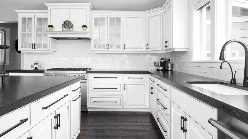 White Farmhouse Cabinets   Modern Farmhouse   HighCraft ... on Farmhouse Kitchen Farmhouse Granite Countertops  id=46887