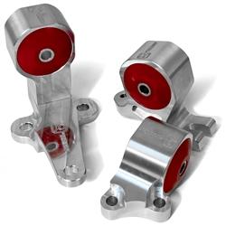 88-91 CIVIC / CRX BILLET CONVERSION ENGINE MOUNT KIT (B-SERIES/CABLE) SOLID  BILLET (NO BUSHINGS)
