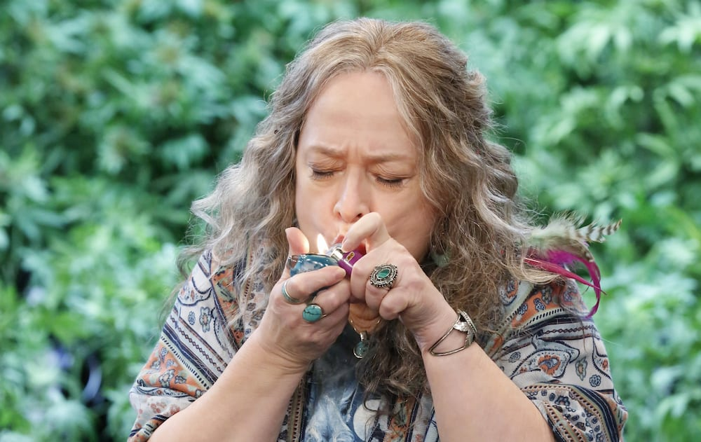 """Does Kathy Bates from """"Disjointed"""" Smoke Weed?"""