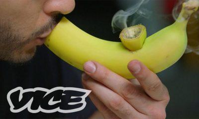 smoke weed out of a banana