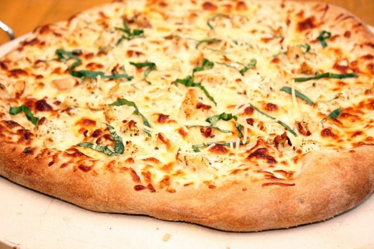 Cannabis Infused Chicken Alfredo Sourdough Pizza