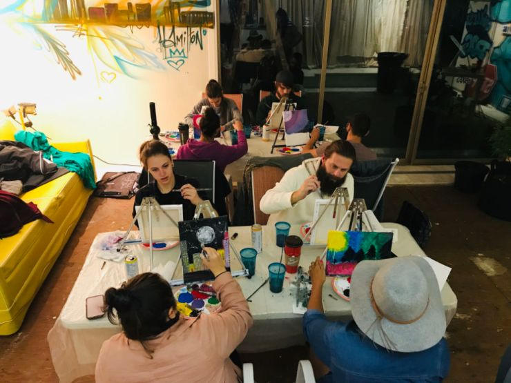Puff and Paint Class at Bong Mansion