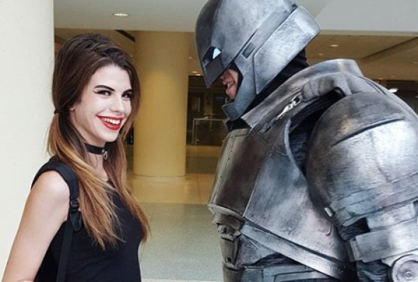 Ella Thrasher laughs in the face of Batman