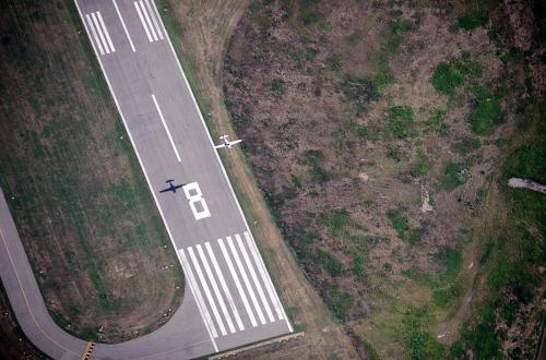 An overhead of our runway