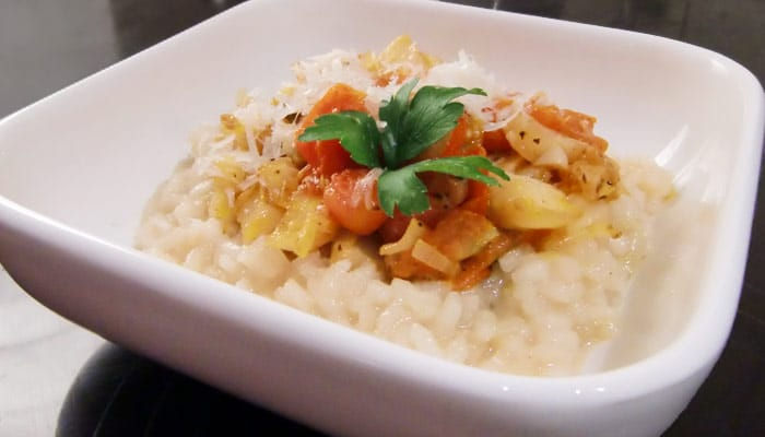 Risotto mit Fenchel und Tomate