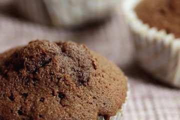 Schokoladenmuffins mit Puddingfüllung