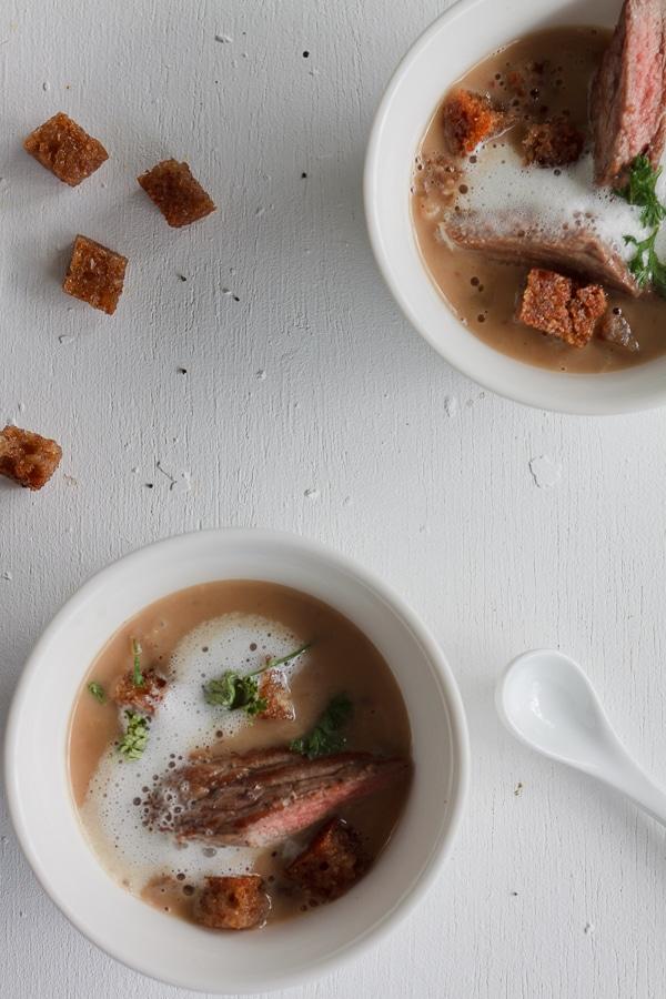 Maronen-Zimt-Shot mit Chili-Schaum