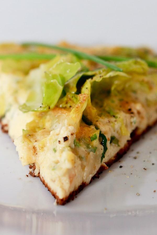 Rosenkohl-Frischkäse-Frittata