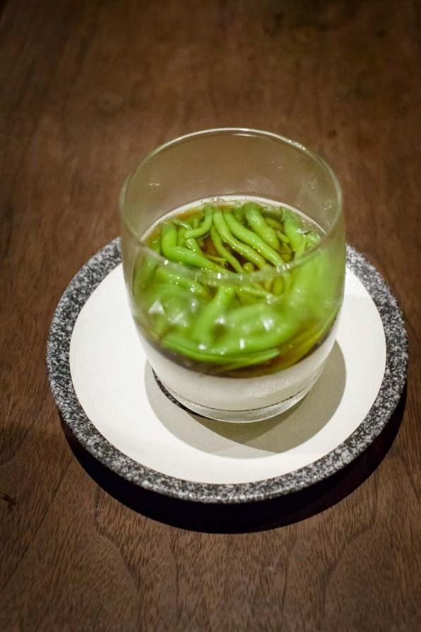 """Chendol Cream"" mit Pandan Jelly"