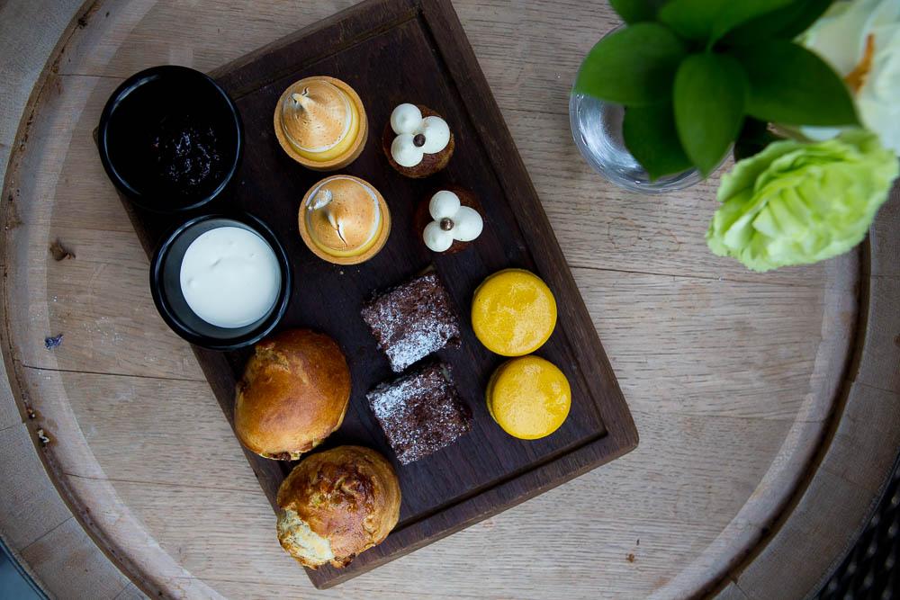 Sweets: Brownies, Macarons, Meringue, Banana Cake, Scones