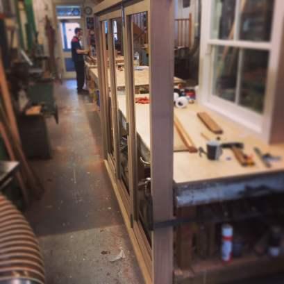 oak bi-folding doors